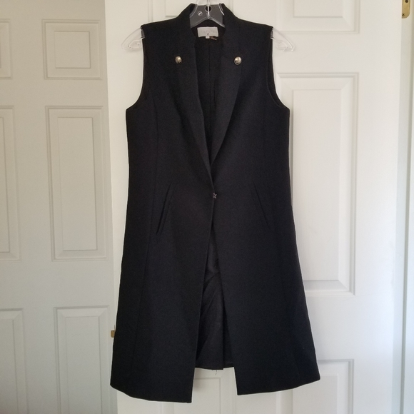 1.State Sleeveless Open Front Vest